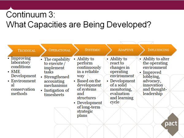 evaluating capacity development results