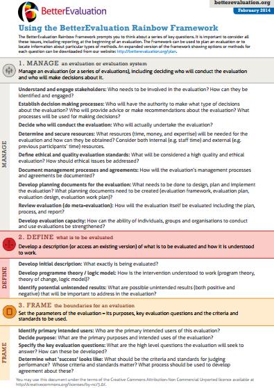 Framework Overview Better Evaluation