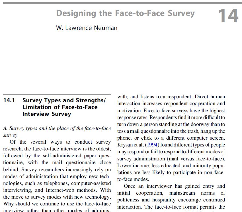 Face-to-Face Questionnaires | Better Evaluation