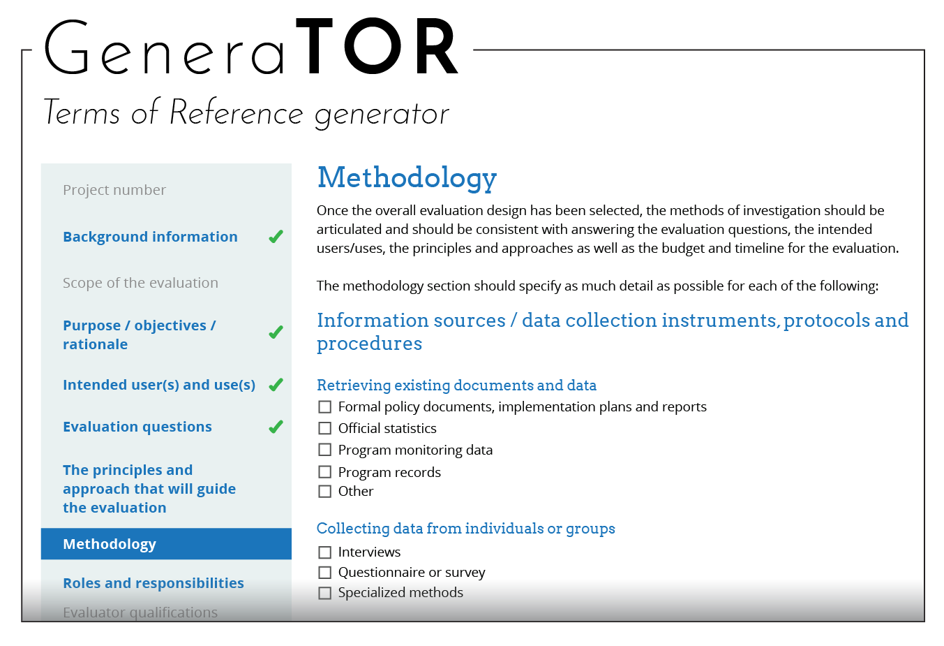 Develop the terms of reference tor better evaluation further information resources developing terms of reference pronofoot35fo Images