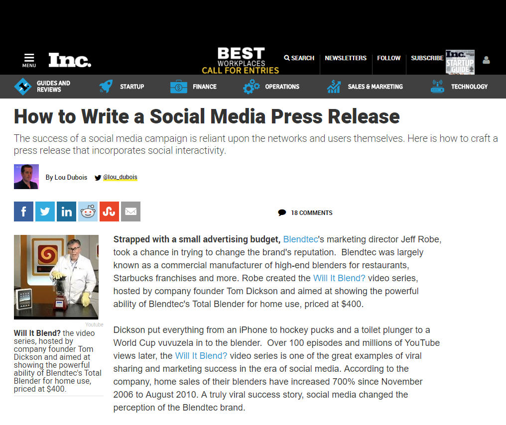 how to write a press media release