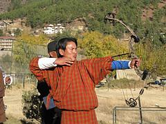 Archery in Bhutan photo by brentolson on Flickr