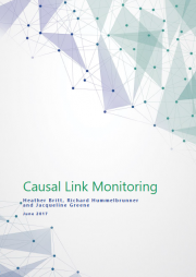 Britt, H., Hummelbrunner, R. and Greene, J. (2017) Causal Link Monitoring. Retrieved from: http://www.betterevaluation.org/resources/overview/Causal_Link_Monitoring