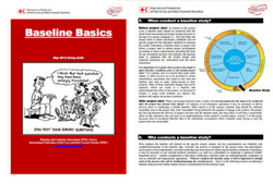 Chaplowe, S. (2013) Baseline Basics. May 2013 (living draft). Retrieved from: http://www.ifrc.org/PageFiles/79595/Baseline%20Basics%2010May2013.pdf