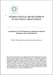 Ray C. Rist, Ph.D. (2012) Competencies for Development Evaluation Evaluators, Managers, and Commissioners. IDEAS - International Development Evaluation Association. Retrieved from: https://ideas-global.org/the-competencies-framework/​