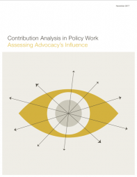 Assessing Advocacy's Influence . Retrieved from: http://www.evaluationinnovation.org/publications/contribution-analysis