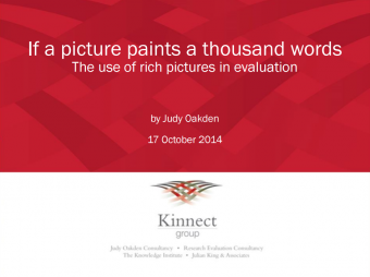 Oakden, J. (2014).If a picture paints a thousand words: The use of rich pictures in evaluation. Kinnect Group.