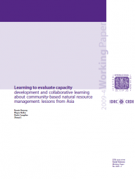 Vernooy, R., Nelles, W., Campilan, D. and Zhang Li. 2009. Learning to evaluate capacity development and collaborative learning about community-based natural resource management: lessons from Asia. International Potato Center (CIP), Lima, Peru. Working Paper 2009-4. 31 Retrieved from: http://www.cipotato.org/publications/pdf/005047.pdf
