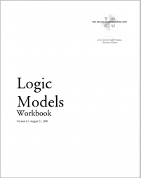 Hyndman, B. Hershfield, L. and Thesenvitz, J. (2001) Logic Models Workbook. The Health Communication Unit (THCU) Retrieved from: http://www.thcu.ca/infoandresources/publications/logicmodel.wkbk.v6.1.full.aug27.pdf