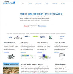 Mobile data collection for the real world [Mobenzi Researcher]. (n.d.). RetrievedJuly2013, from http://www.mobenzi.com/researcher/Home