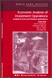 Belli P et al. (2001)Economic Analysis of Investment Operations – Analytical Tools and Practical Applications. World Bank Institute (WBI)Retrieved from: http://www-wds.worldbank.org/external/default/WDSContentServer/WDSP/IB/2006/01/27/000160016_20060127112546/Rendered/PDF/298210REPLACEMENT.pdf