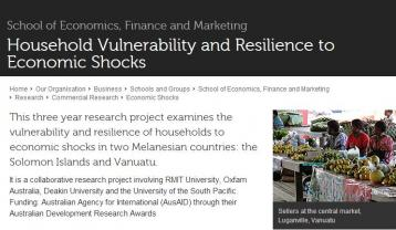 Feeny, S., McDonald, L. and Posso, A. (2013).Ekonomi Blong Yumi (English Version)[Video]. Retrieved fromhttps://www.rmit.edu.au/research/research-institutes-centres-and-groups/research-groups/international-development-and-trade-research/projects/economic-shocks