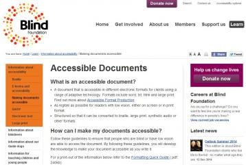 Blind Foundation (n.d.). 'Information about accessibility' in Blind Foundation [Website]. Retrieved from: http://blindfoundation.org.nz/learn/accessible-information