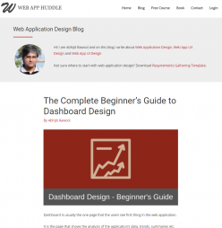 Rawool, A. (2017).The Complete Beginner's Guide to Dashboard Design [Blog post]. Retrieved from:https://webapphuddle.com/beginners-guide-to-dashboard-design/