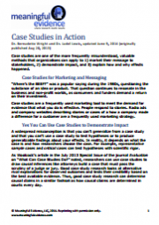 Wright, B., & Lewis, L. (2013) Case studies in Action. Meaningful Evidence. Retrieved from http://www.meaningfulevidence.com/images/Case_studies_in_action.pdf