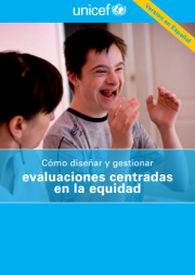 Bamberger M and Segone M (2011) How to design and manage Equity-focused evaluations, UNICEF Evaluation Office. Retrieved from https://evalpartners.org/sites/default/files/Equity_Focused_evaluation_Spanish_final.pdf  Also via Mymande