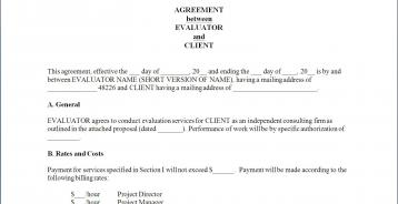 Contractual Agreement | Better Evaluation