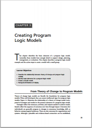Knowlton, L. & Phillips, C. (2013)The Logic Model Guidebook. Better Strategies for Great Results. Second Edition. Sage Publications. Retrieved fromhttp://www.sagepub.com/upm-data/23938_Chapter_3___Creating_Program_Logic_Models.pdf