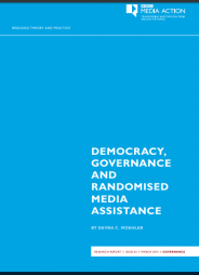 Moehler, D. C. Democracy, governance and randomised media assistance. Available at: http://downloads.bbc.co.uk/rmhttp/mediaaction/pdf/democracy-governance-research-report.pdf (Accessed: 14 February 2017)