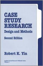 Yin, R. K. (1994) Case Study Research. Design and Methods second edition. SAGE publications.