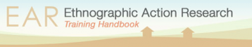 Tacchi, J. (no date)Ethnographic Action Research Toolbox. Available at:http://ear.findingavoice.org/toolbox/index.html(Accessed: 24 February 2017).