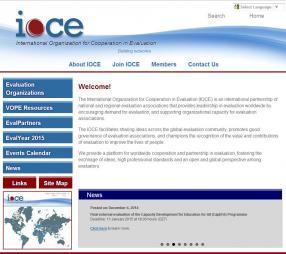 IOCE (2014)International Organization for Cooperation in Evaluation[Website]. Retrieved from:https://www.ioce.net/
