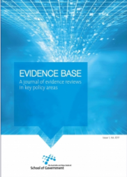 ANZSOG (2017). Evidence Base Journal.  Retrieved from: https://www.anzsog.edu.au/resource-library/research/evidence-base-journal