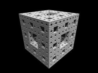 Menger Sponge depth 5 photo by fdecomite on Flickr