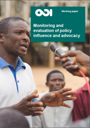 Tsui, J., Hearn, S. and Young, J. (2014) Monitoring and evaluating policy influence and advocacy. Working Paper. London: Overseas Development Institute.