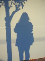 Shadow self-portrait with tree Photo by Nina