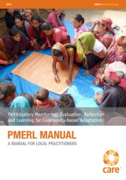 Ayers, J., Anderson, S., Pradhan, S., & Rossing, T. Care International, (2012). Participatory monitoring, evaluation, reflection and learning for community-based adaptation: Pmerl manual. Retrieved from website: http://www.careclimatechange.org/files/adaptation/CARE_PMERL_Manual_2012...