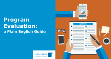 Cross, D. (2015) Program Evaluation: a Plain English Guide. Grosvenor Management Consulting