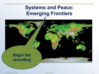 Wilson-Grau, R. (2015, April). 'Challenges that Complexity Poses for Monitoring and Evaluation and Systemic Thinking as a Means to Cope' [Webinar]. Systems and Peace: Emerging Frontiers Webinar Series.  Retrieved  ​from: https://hsdinstitute.adobeconnect.com/_a1079188209/p17na0yxtn6/?launcher=false&fcsContent=true&pbMode=normal