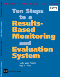 Kusek, J. Z., & Rist, R. C. (2004) Ten steps to a results based monitoring and evaluation system. A handbook for development practitioners. The World Bank.