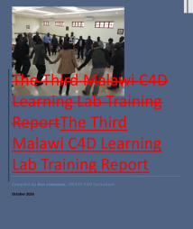 Ken Limwame, The Third Malawi C4D Learning Lab Training Report. Available at:https://goo.gl/2Oxzy2(Accessed at: May 03, 2017)