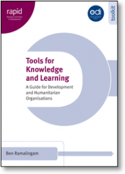 Ramalingam, B. Overseas Development Institute, Research and Policy in Development Programme. (2006).Tools for knowledge and learning: A guide for development and humanitarian organisations. Retrieved from website: http://www.odi.org.uk/resources/docs/188.pdf
