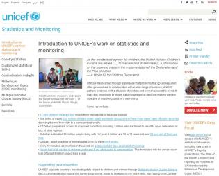 UNICEF (2014)Statistics and Monitoring[Webpage]. Retrieved fromhttp://www.unicef.org/statistics/index_24287.html