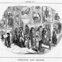 """Substance and Shadow""(1843) by John Leech"